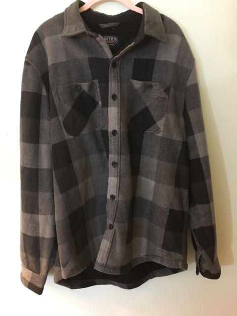 Smiths Workwear Mens Fleece Lined Shirt Jacket