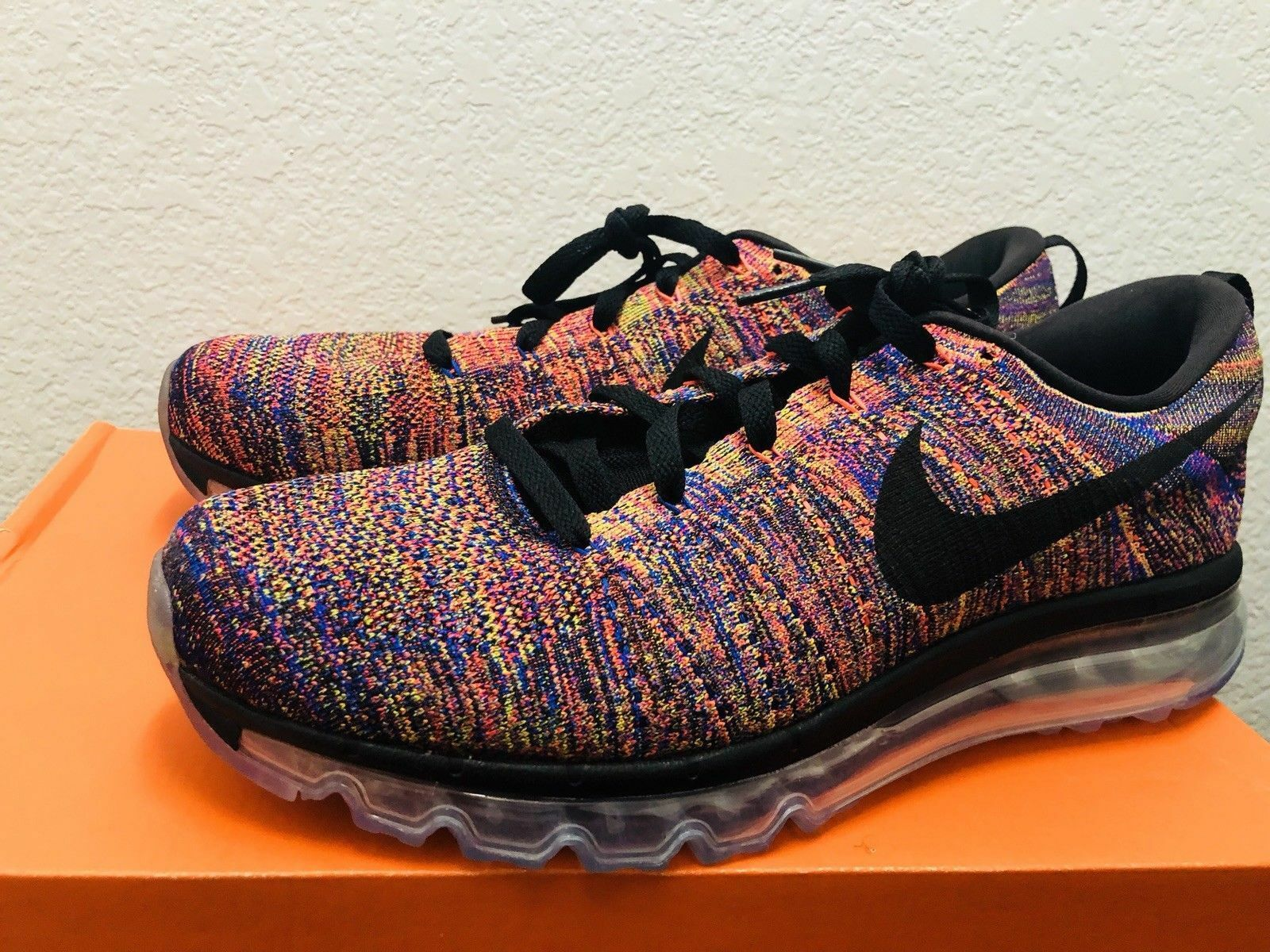 Nike Flyknit Max Running shoes Multi-color Crimson Black ( 620469-012 ) SZ 12.5