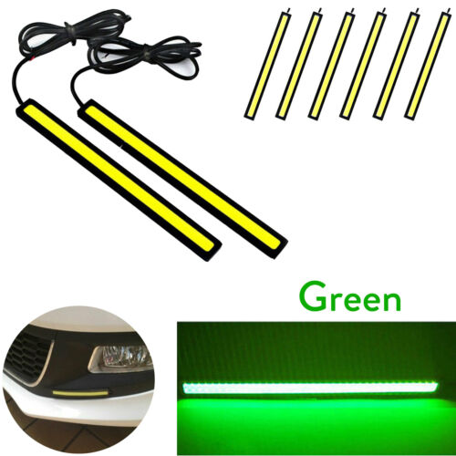 Car Day Time LED Running Lamp DRL COB Strip Light 12V Waterproof Drive Lamps RM