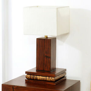 tischlampe eco tischleuchte nachttischlampe leuchte lampe holz lese lampe design ebay. Black Bedroom Furniture Sets. Home Design Ideas