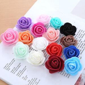 3 CM Colourfast Foam Roses Artificial Flower Wedding Bride Bouquet Party Decor