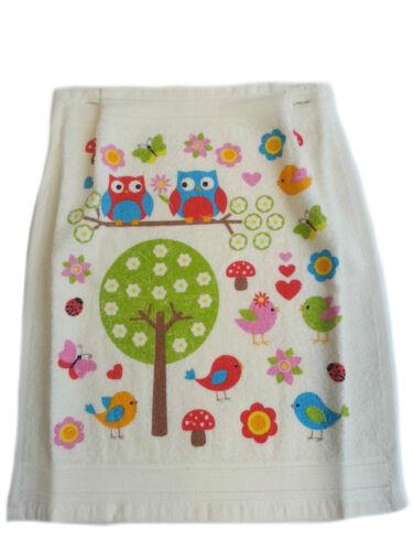Handtuch mit Eulen Motiv Blumen Kochschürze Latzschürze Schürze