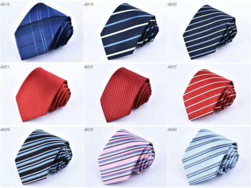 New Classic Black Red Tie Set Blue Green Mens Necktie Silk Jacquard Woven Hi-Tie