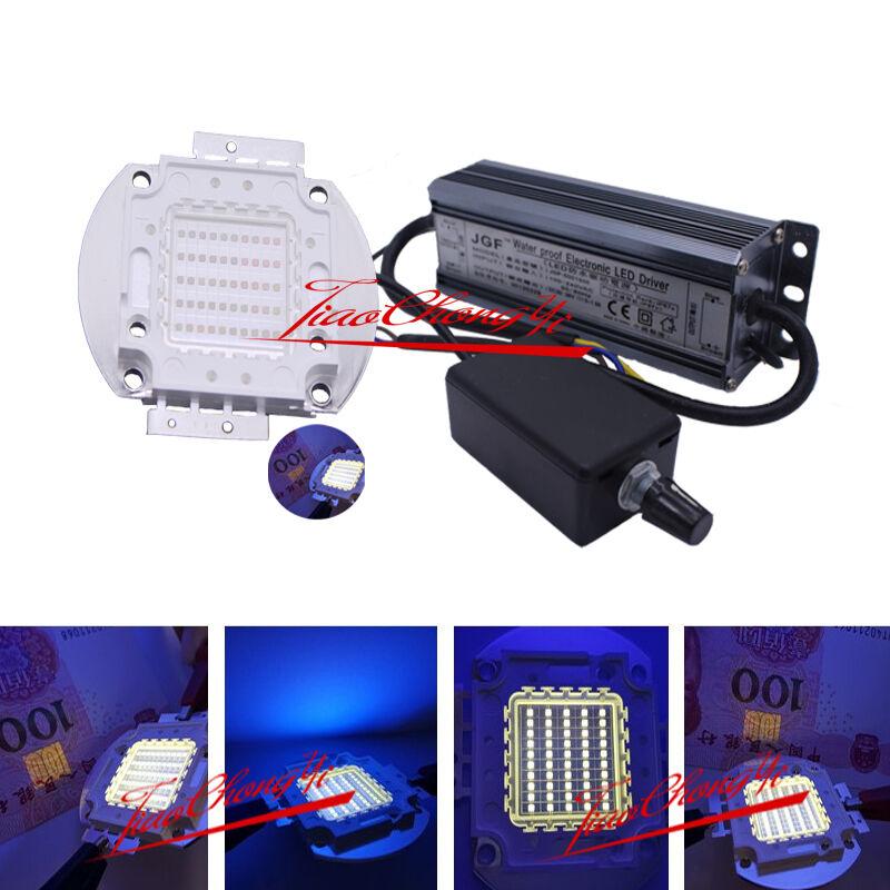 50W 395nm-400nm UV Ultra viola High power LED +50w Dimmer driver 85-265v 1 kit