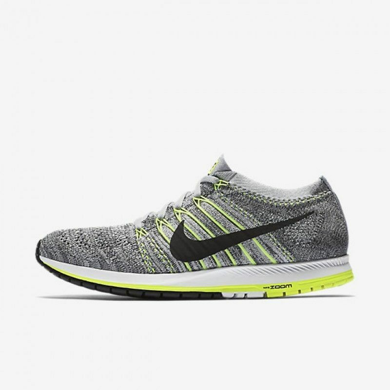 NIKE ZOOM FLYKNIT STREAK GREY 835994 007 Running Shoes SIZE M 14/W 15.5 Price reduction