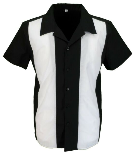Retro Black/White Rockabilly Bowling Shirts