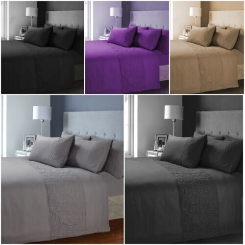 Luxurious Venezia Satin Stripe Damask Design Duvet Cover Sets Bedding Sets By LW