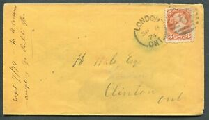 ONTARIO-SPLIT-RING-TOWN-CANCEL-SMALL-QUEEN-COVER-034-LONDON-034