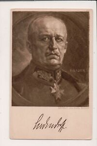 Vintage-Postcard-General-Erich-Ludendorff-WWI-Imperial-German-Army