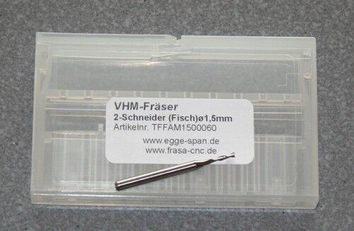 VHM-Fräser 2-Schneider (Fisch)  Ø 1.50mm