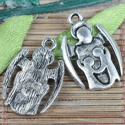 12pcs Tibetan Silver Tone Câlin symbole Charms EF0245