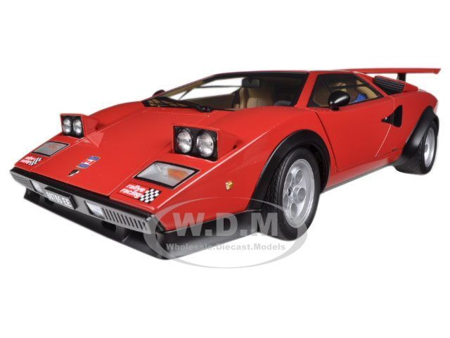 Lamborghini Countach Walter Wolf Edition Red 1 18 By Autoart 74651
