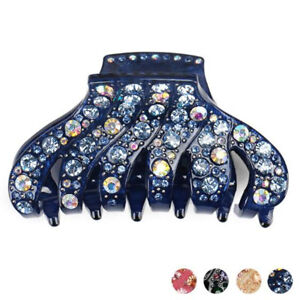 Womens-Korean-Trend-Acrylic-Rhinestone-Fully-jewelled-Large-Hair-Claw