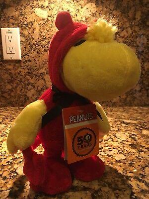 Peanuts 50th Anniversary Animated Halloween Woodstock Devil Plush Figure RARE