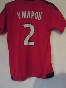 326ccb07 Olympique Lyon 2015-2016 Away Mapou Football Shirt Medium /43453   eBay