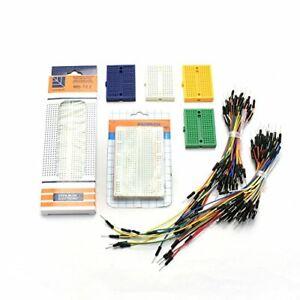 ZYAMY 1pcs MB-102 830 + 1pcs 400 + 4pcs 170 Tie Point Prototype Solderless PC...