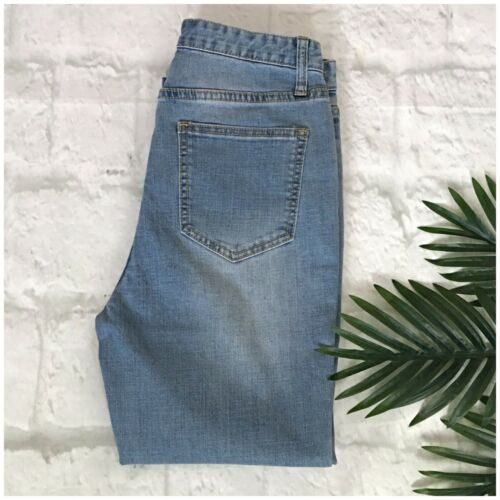CURRENT AIR Chic High Rise Cropped Medium Wash Jeans Retails $ 89