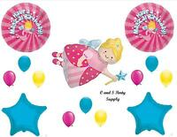 Magical Fairy Godmother Birthday Balloons Decorations Supplies Girl Princess