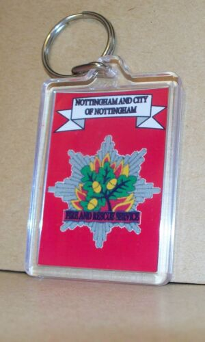 Nottinghamshire and City of Nottingham Fire and Rescue Service key ring..