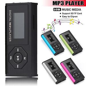 USB-Mini-Clip-MP3-Player-LCD-Screen-Digital-Music-Media-16GB-Micro-SD-TF-Card-UK