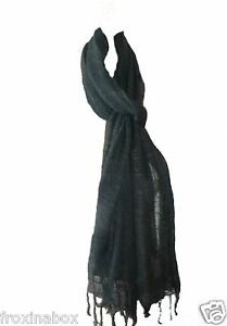 Grey-Pure-Cotton-Long-Scarf-Lightweight-Large-Soft-Feel-Fair-Trade-Camouflage