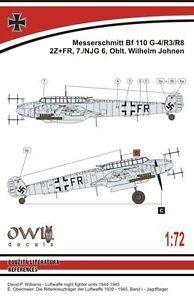 W. Johnen Owl 1//72 Messerschmitt Bf-110 G-4 # S7215