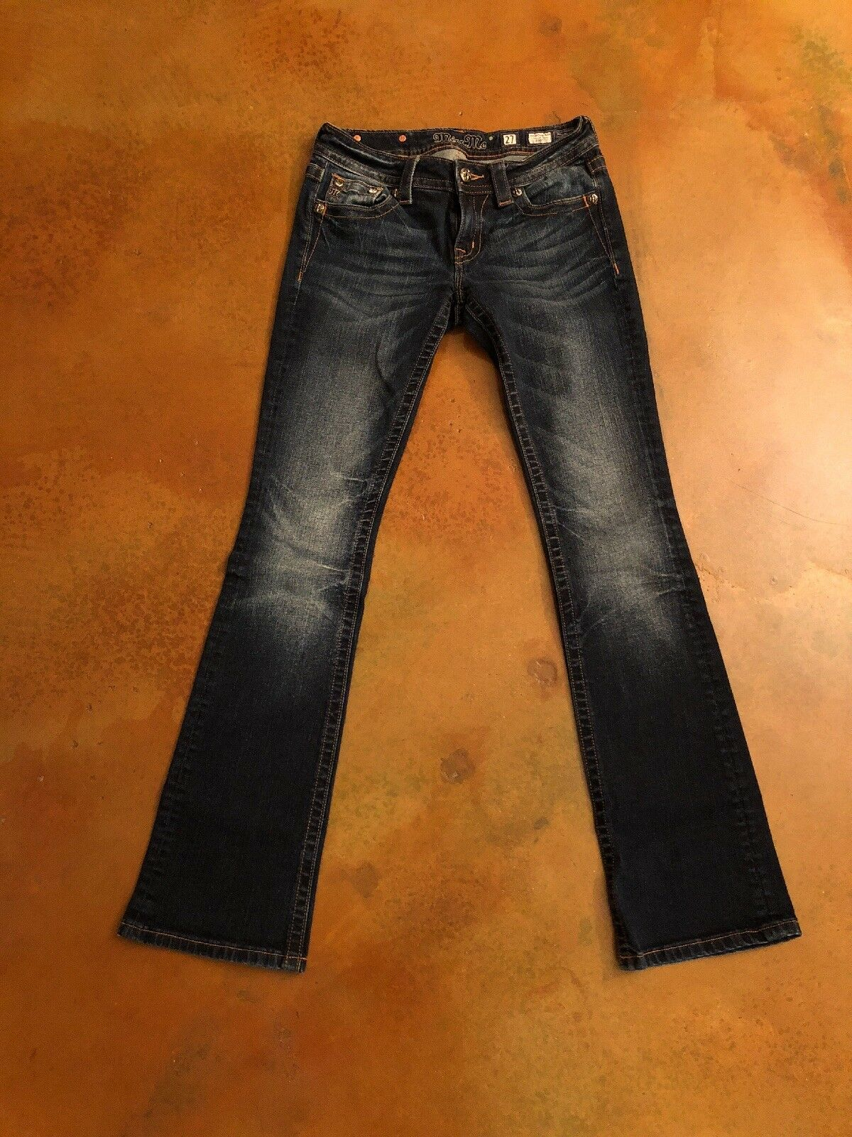 Miss Me Signature Boot Cut Jeans Size 27 Dark Wash