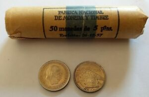 Moneda 5 Pesetas Estado EspaÑol (franco)- Madrid 1957(*75) S/circular