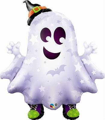 """CLEARANCE Sneakers The Ghost Qualatex 36"""" Halloween Supershape Foil Balloon"""