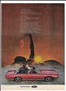 FORD-THUNDERBIRD-Vintage-1968-Print-Ad-Sun-Moon-amp-Stars-Roof-Landau