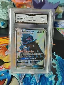 Pokemon-Hidden-Fates-Shiny-Vault-Decidueye-GX-SV47-Full-Art-Graded-10-GM-Card