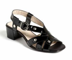 AGL Attilio Giusti Leombruni Womens 38.5 8.5 Black Leather