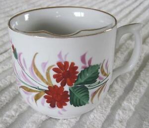 Vintage Floral 3 25 Moustache Mug Shaving Mug Ebay