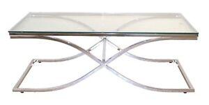 Couchtisch Tisch Beistelltisch Metalltisch Glastisch Metall Glas