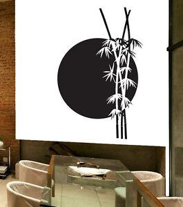 Detalles De Vinilo Decorativo Pared Casa Salón Habitación Baño Decoracion Bambu Zen A Medida