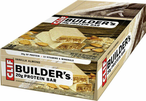 Clif Bar Builders Protein Bar Vanilla Almond Box of 12