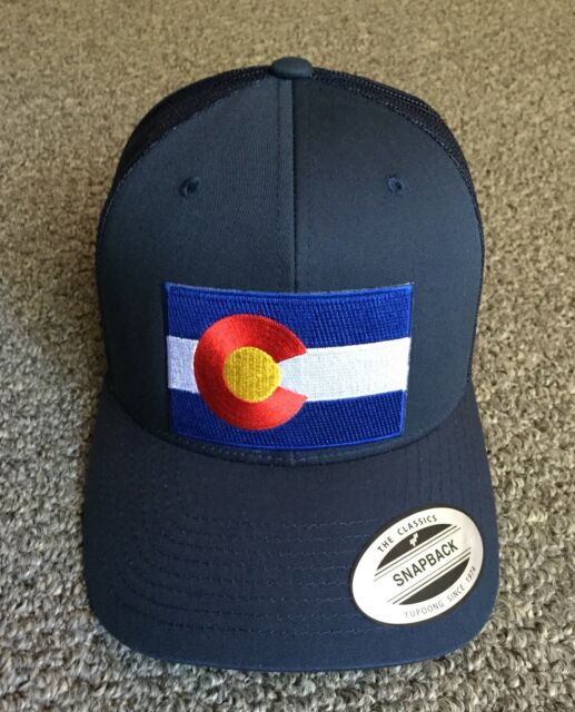 b7ecc759c State of Colorado Flag Hat SnapBack Trucker Mesh Cap Handcrafted in the USA!