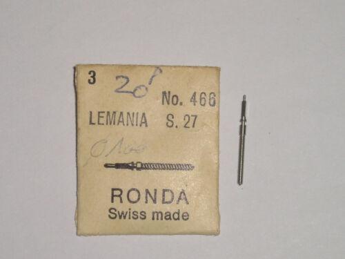 Lemania winding stem  S27  CH27 CH27C12 tige de remontoir Aufzugswelle Ronda 466