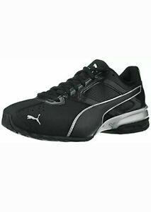 Men-039-S-Puma-Tazon-6-Scarpe-Da-Ginnastica-Sneaker-FM-Nero-Argento-189873-03-Taglia-8-5