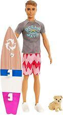 BARBIE DOLPHIN MAGIC KEN - Ken puppy friend and a cool surfboard - brand New