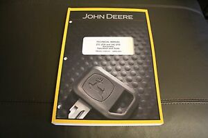 john deere 27c 35c zts excavator service operation test manual rh ebay com John Deere Riding Lawn Mowers Riding Lawn Mowers