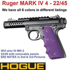 Hogue Ruger 22/45 MKIV Rubber Grip With Finger Grooves Purple 79086