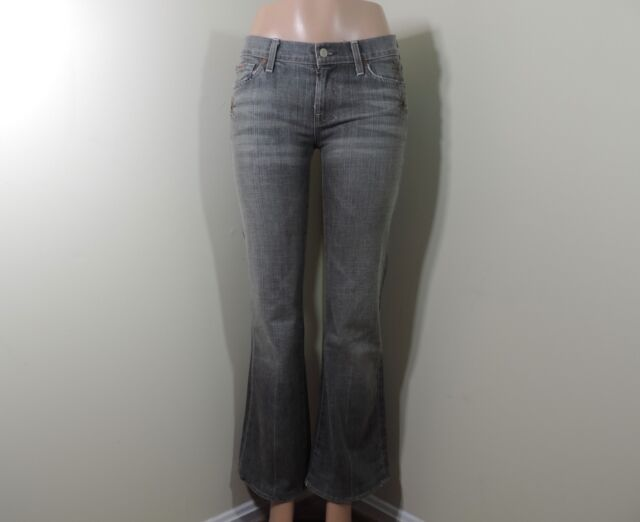 clearance prices factory outlets on feet images of 7 for All Mankind Bootcut Jeans Distressed Wash Size 29