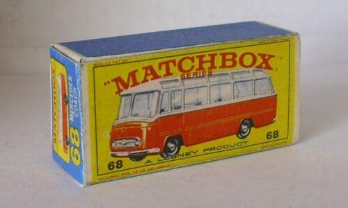 Repro Box Matchbox 1:75 Nr.68 Mercedes Bus rot