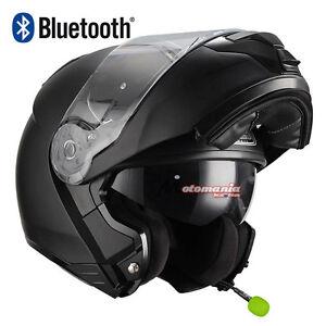 Casque De Moto Modulaire Nzi Combi Duo Noir Mat Bluetooth Intégré Ebay
