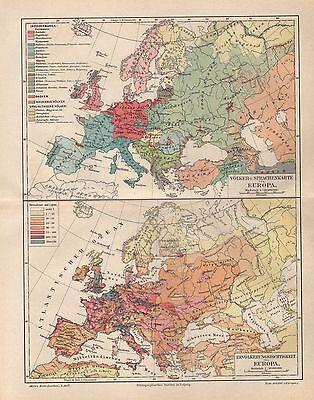KOLONIEN europäischer Staaten  Kolonialgeschichte   historische Landkarte 1894