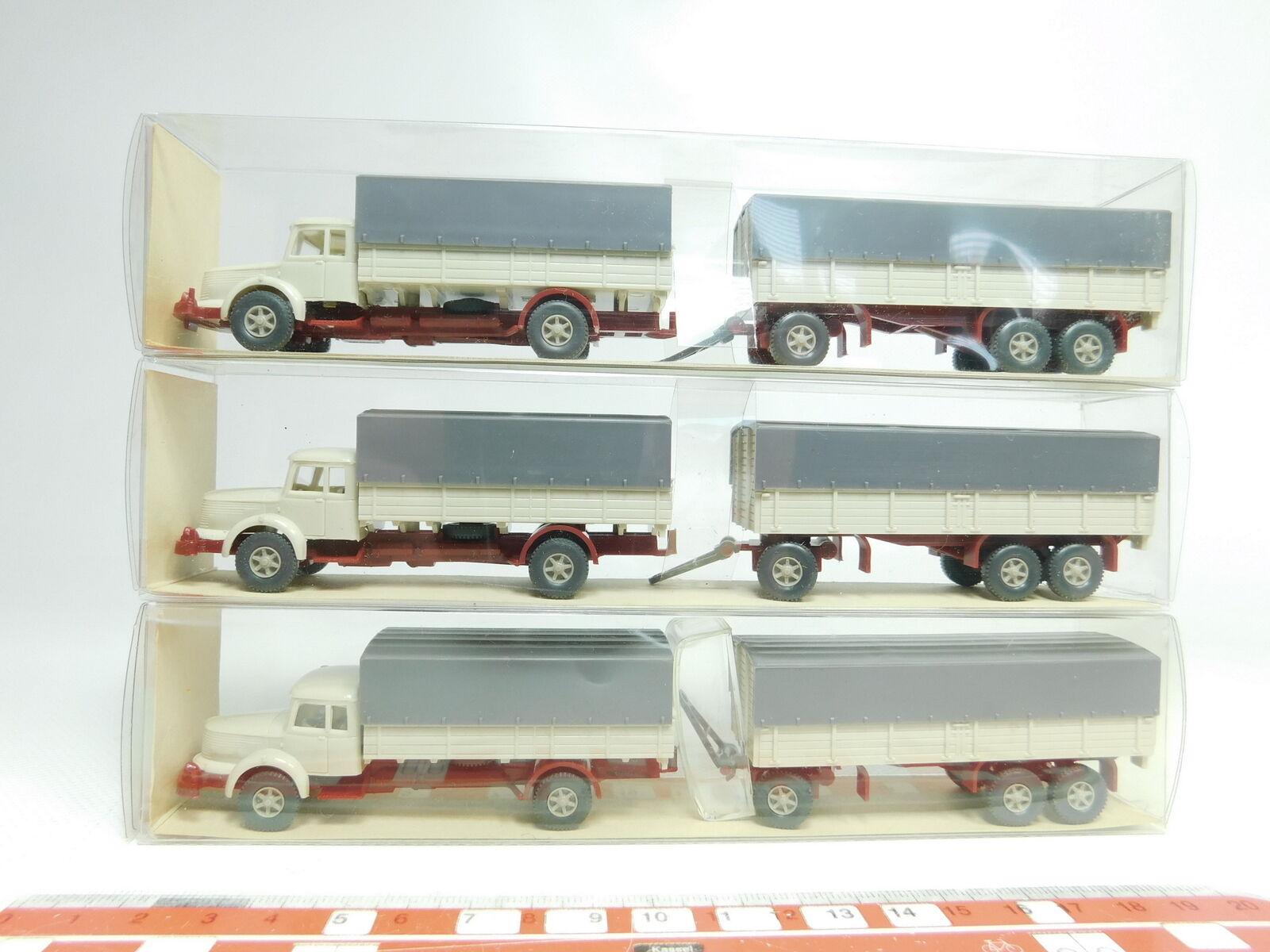 BJ477-0,5  3x Wiking H0 1 87 480 Lastzug Lastwagen Lastwagen Lastwagen LKW Krupp Titan, NEUWOVP  | Hervorragende Eigenschaften  e57347