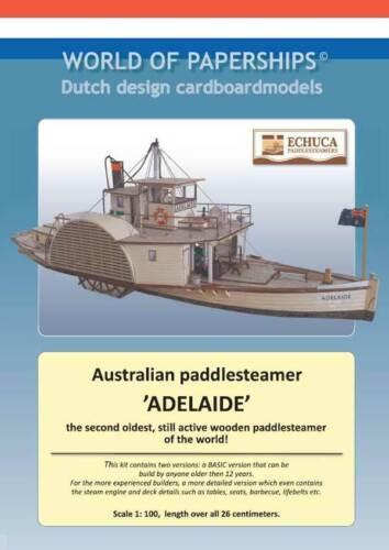 Kartonmodell Australischer Raddampfer Adelaide 1:100 World Of Paperships