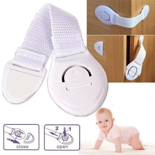 1//10pcs Baby Kids Child Cupboard Cabinet Safety Locks Pet Proofing Drawer Fridge