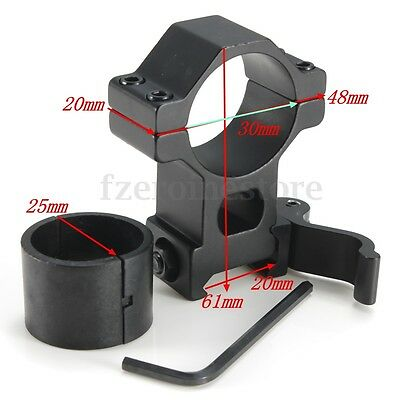 1'' 25.4/ 30 mm Ring 20mm Weaver Picatinny Rail QD Quick Release Scope Mount